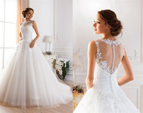 gowns, Ivory, Plus Size, Lace