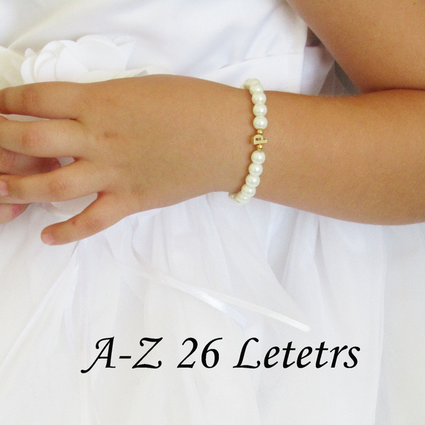 Gold Children/'s Bracelet Flower Girl Gift