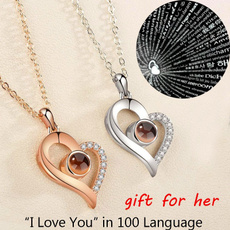 Pendant, Love, lover gifts, gold