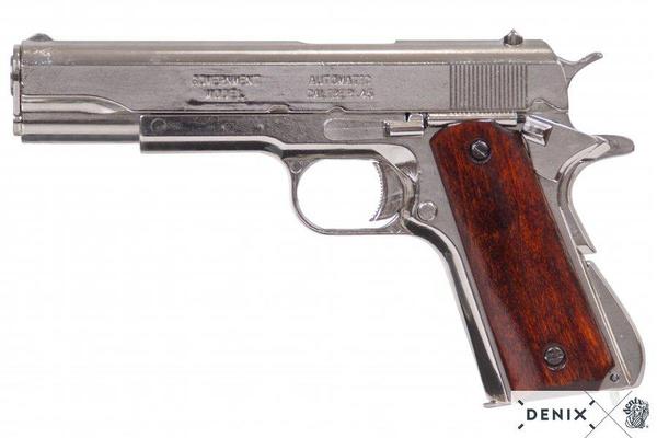 pistolm1911a1svartträkolv, pistol