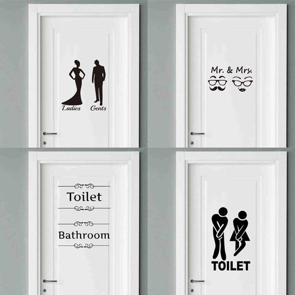 toilet, Wall Art, Home Decor, doorsticker