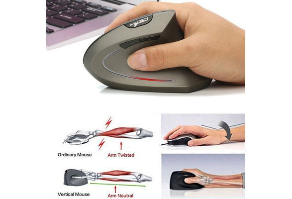 IPLEX Ergonomic Arm-rest Vertical Wired Mouse 3000 dpi Noise Filter Cable VM-600