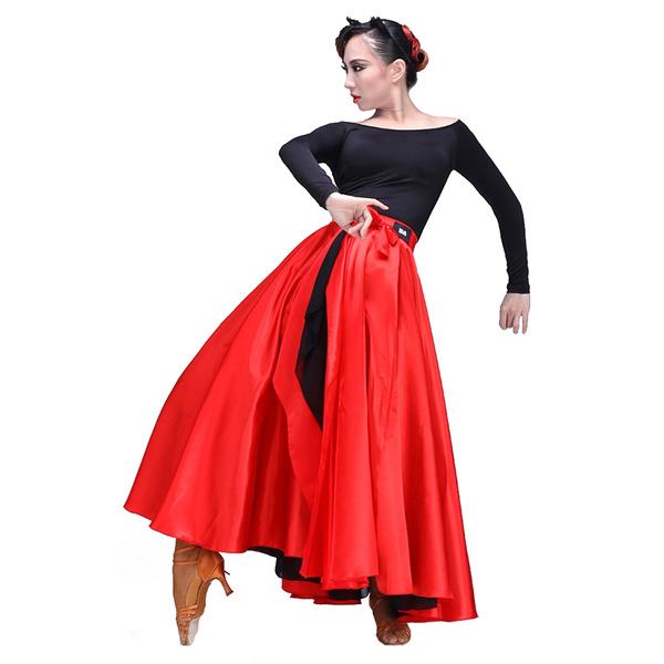 flamencodancewear, womanballroomdre, redbigswingskirt, adultspanishdancecostume
