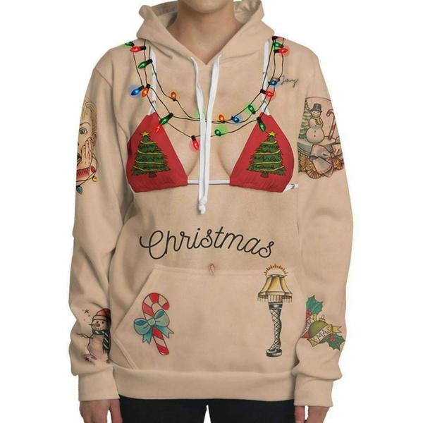 hooded, Cosplay, womens hoodie, uglychristmasclothe