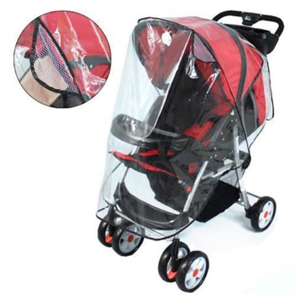 Weather Shield for Umbrella Plastic Stroller Nasjac Baby Stroller Rain Cover Universal Windproof Waterproof Stroller Accessories Protective from Dust Mosquito Snow with Eye Screen Outdoor Use