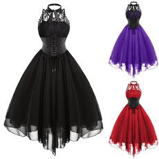 Goth, Fashion, halter dress, Lace