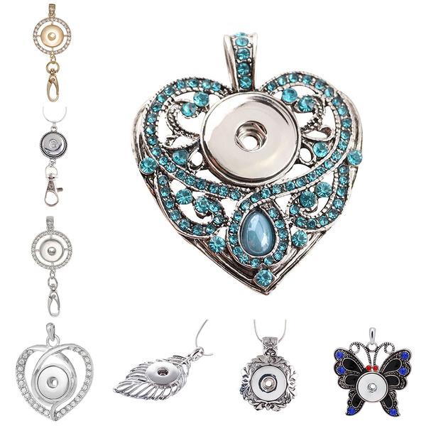Fashion, Jewelry, Silver Pendant, button