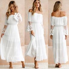 Women, Strapless Dress, long sleeve dress, Sleeve