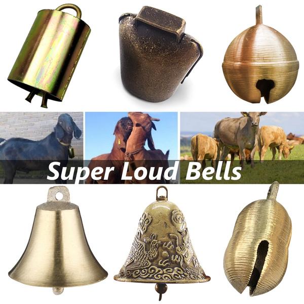 NUOBESTY 2pcs Cow Horse Sheep Grazing Copper Bells Cattle Farm Animal Copper Loud Bronze Bells