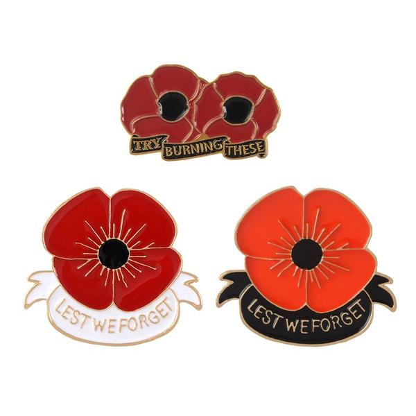 veteransdaypin, Flowers, flowerjewelry, Jewelry