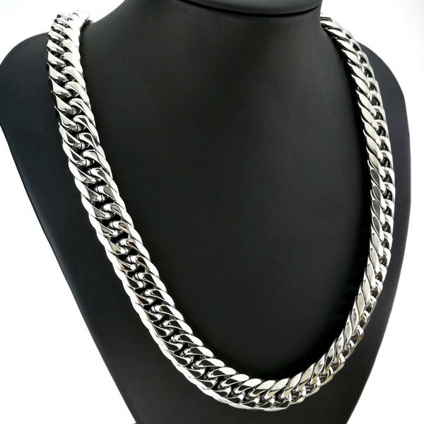Heavy, Steel, necklaces for men, polished