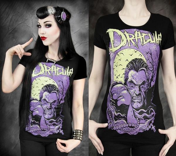 blouse, Summer, personalityclothing, vampirefullmoon