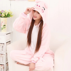 pink, animalonesiewomen, flannelhoodie, onesiesanimalpajama