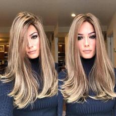 wig, golden, Medium, Cosplay