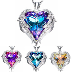 Heart, Jewelry, Angel, purple