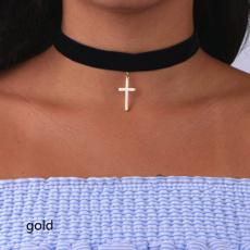 Party Necklace, Goth, punk necklace, Cross necklace