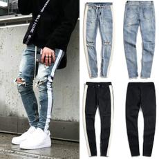 men jeans, slim, skinny pants, rippedjean