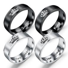 Steel, King, Stainless Steel, wedding ring