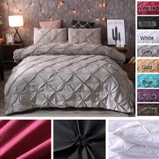 bedroomdecor, bedclothe, Home & Living, pinchpleatbeddingset