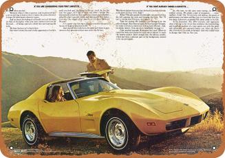 metalsignsartwall, chevroletsign, Corvette, Posters