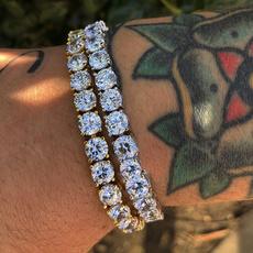 White Gold, Crystal Bracelet, DIAMOND, Chain Link Bracelet