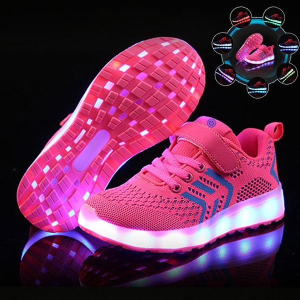 Kids Shoes USB Charger Glowing Sneakers