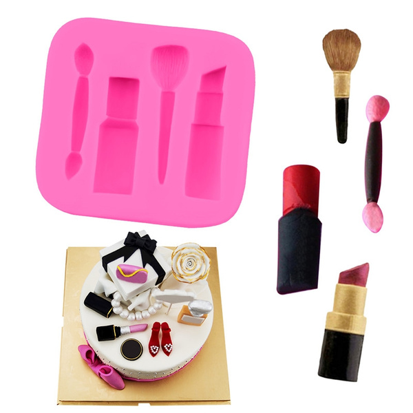 Silicone soap mold nail polish and lipstick