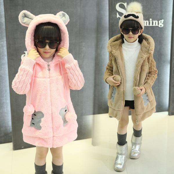 girlscoat, fur, Winter, Casual Jackets