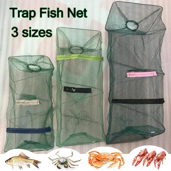 Nue Foldable Crab Fish Crawdad Shrimp Minnow Fishing Bait Trap Cast Dip Net