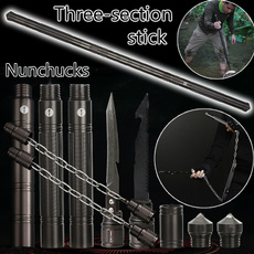nunchuck, threesectionstick, campingstick, portableampdetachable