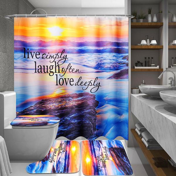 Bathing, toiletmat, Waterproof, Shower Curtains