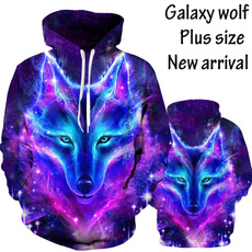 3D hoodies, galaxywolf, 3danimalhoodie, coolhoodie