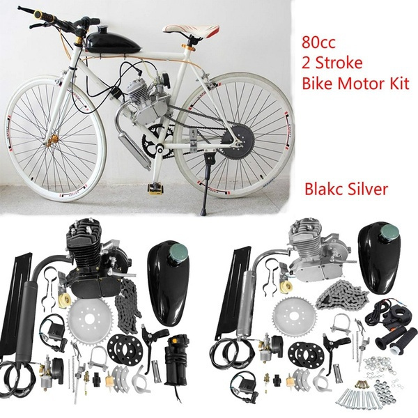 80cc 2-Stroke Cycle Petrol Gas Motor Engine Kit for Bike Motor Bicycle Motorized