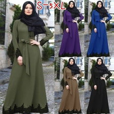 gowns, Plus Size, islamic, Long Sleeve