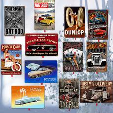 garagetinsign, hotrod, Home & Living, Automotive