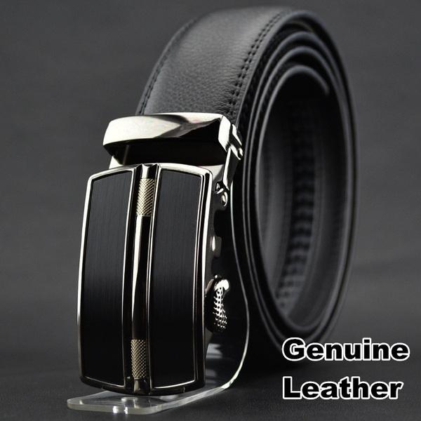 brown, Leather belt, gold, Men