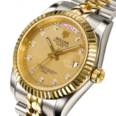 Waterproof, quartz watch, Stainless Steel, wristwatch