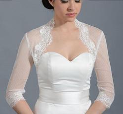 Lace, Sleeve, Dress, weddingjacket