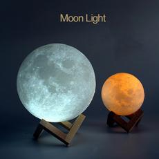 ledmoonlight, Decor, Rechargeable, moonlamp