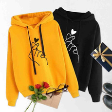 Heart, hooded sweater, Long Sleeve, printedheart