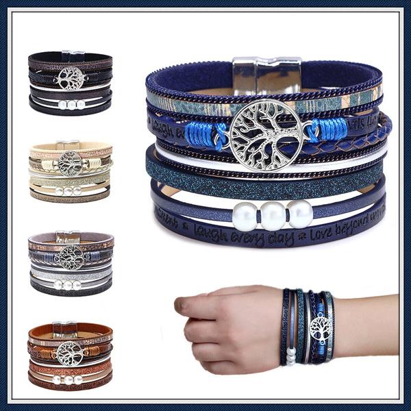 Fashion, Wristbands, leather, Tree