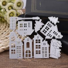 Decor, Embossing, Christmas, house