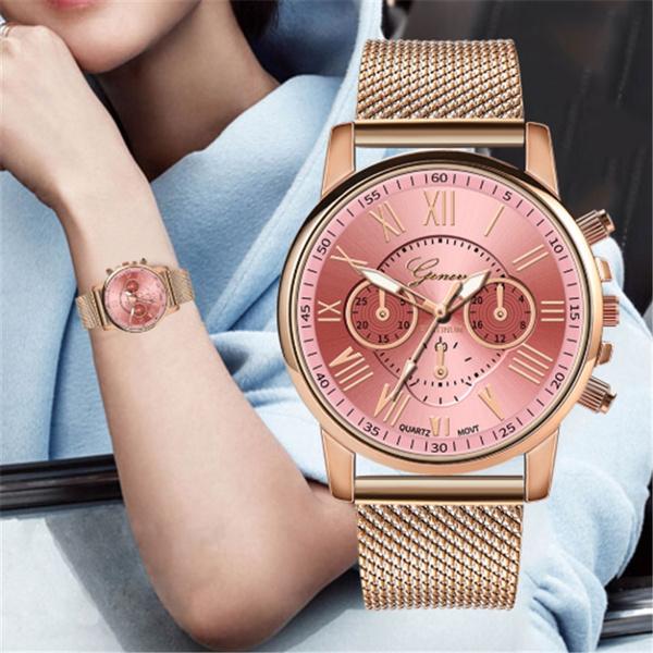 Fashion, gold, steel watch, wristwatch