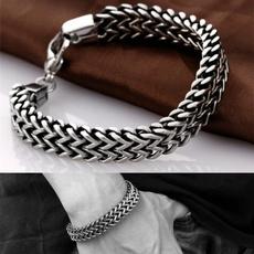 Steel, menchain, Jewelry, stainlesssteelbracelet