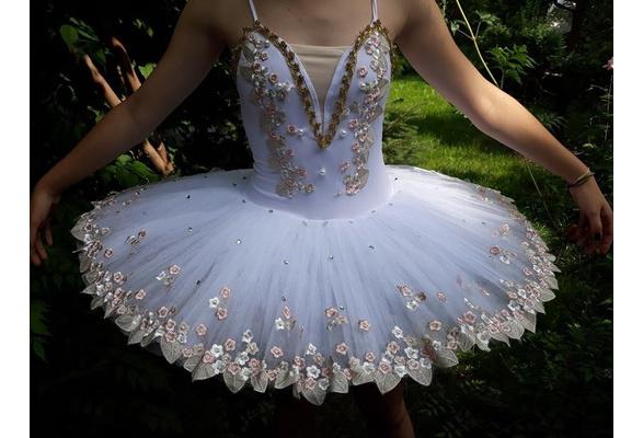 CHANGL White professional ballerina ballet tutu for child children kids girls adults pancake tutu dance costumes ballet dress girls