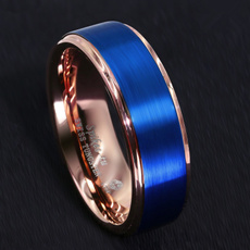 Blues, 8MM, tungstenring, coolring