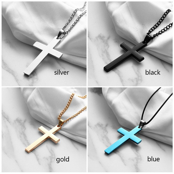 Steel, necklaces for men, Christian, Jewelry