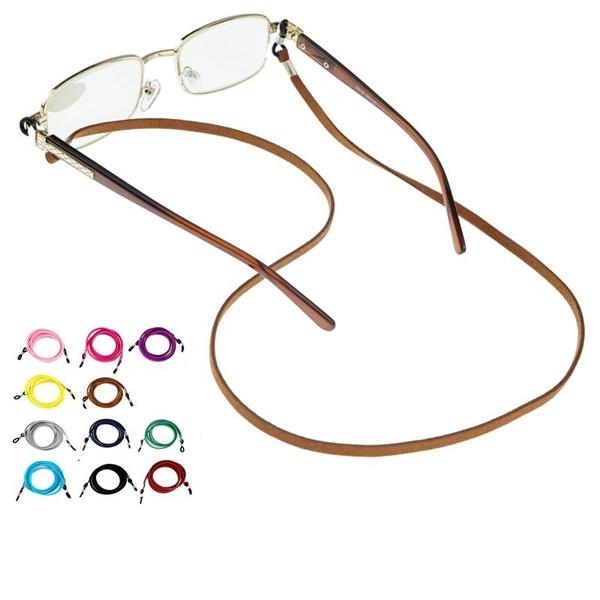 Fashion, glassescord, leather, leatherglasseschain
