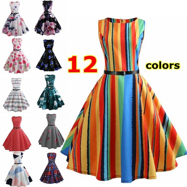 sleeveless, Dress, Floral dress, Women's Fashion