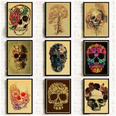 Decor, skullposter, Home Decor, skull